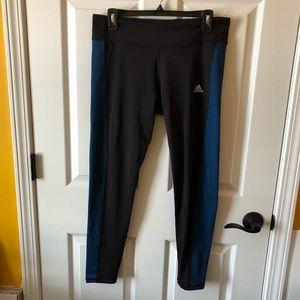 Adidas Climawarm black & teal leggings